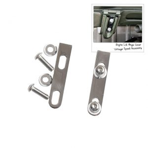 Engine lid hinge mounting plates, Vintage Speed - Exterior - Body parts - Hoods and hatches  - Vintage Speed