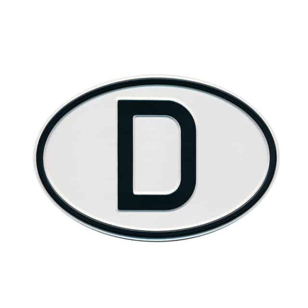 Sign D (Germany) - Exterior - Plates and accessories - Country - year signs  - Generic