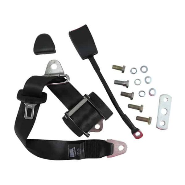 Universal seat belt - blacke-marked, each - Interior - Seats and accessories - Seat belts  - Generic