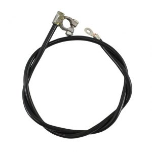 Positive battery cable, black 1130 mm - Electrical section - Switches and apparatuses - Battery cables  - Generic