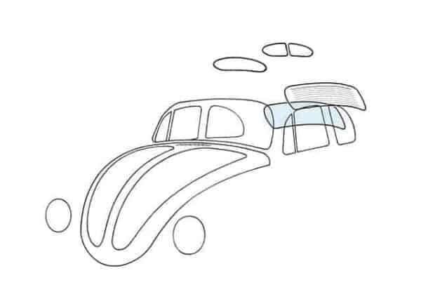 Rear window - Exterior - Windows and accessories - Windows - for aircooled VW (XView 1-09)  - Generic