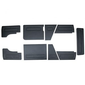 Panel set, black, 9 pieces - Interior - Door finish and emergency brake - Door and quarter panels  - Generic