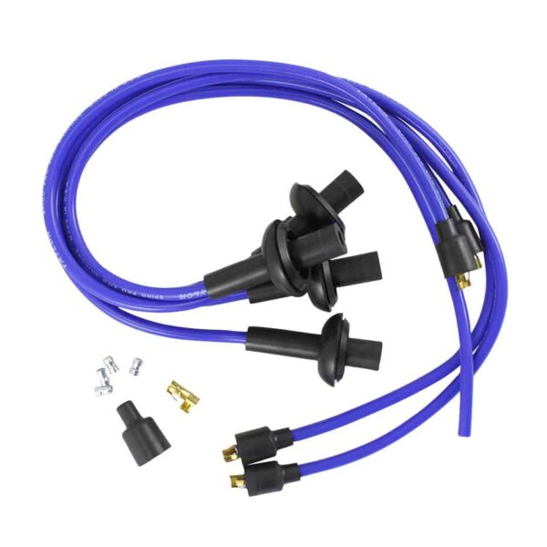 Spark plug wire, with flexible carbon coreblue - Engine - Ignition - Spark plug cables  - Generic