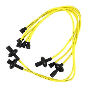 Spark plug wires, copper coreyellow - Engine - Ignition - Spark plug cables  - Generic