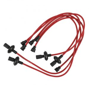 Spark plug wires copper core,red - Engine - Ignition - Spark plug cables  - Generic