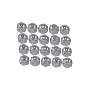 Chrome bolt caps, Ø 19 mm, 20 pieces - Exterior - Wheel rims and accessories - Centercaps, nuts and bolts  - Generic