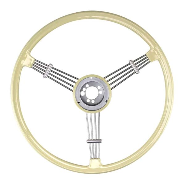 Banjo steering wheel, white - Interior - Shifters and steering wheels - Flat-4 steering wheels and accessories  - Flat 4