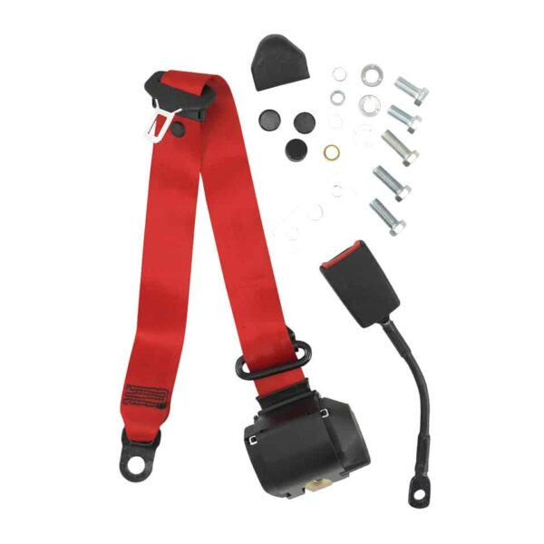 Universal seat belt - red, eache-marked - Interior - Seats and accessories - Seat belts  - Generic