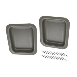 Front door box, grey plastic, pair - Interior - Door finish and emergency brake - Door and quarter panels  - Generic