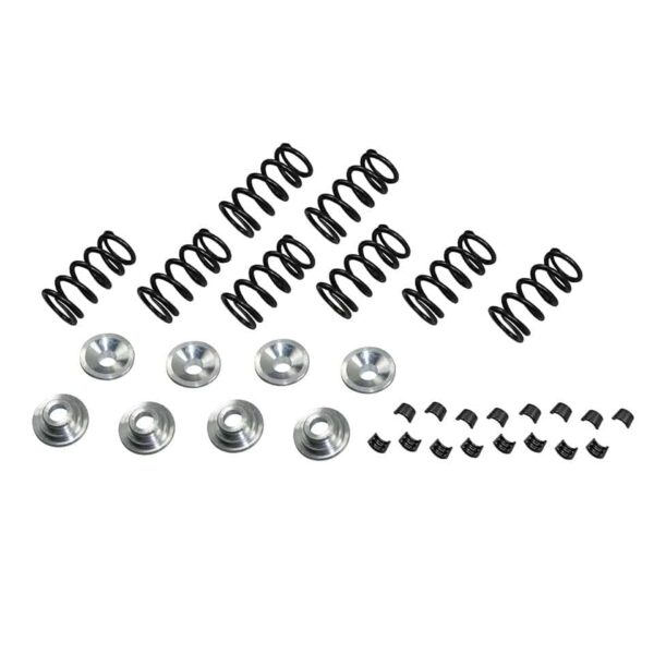 Valve springs with aluminium retainers and clampsfull set 8 pieces - Engine - Lower block - Cilinder heads (XView 5-04)  - Generic