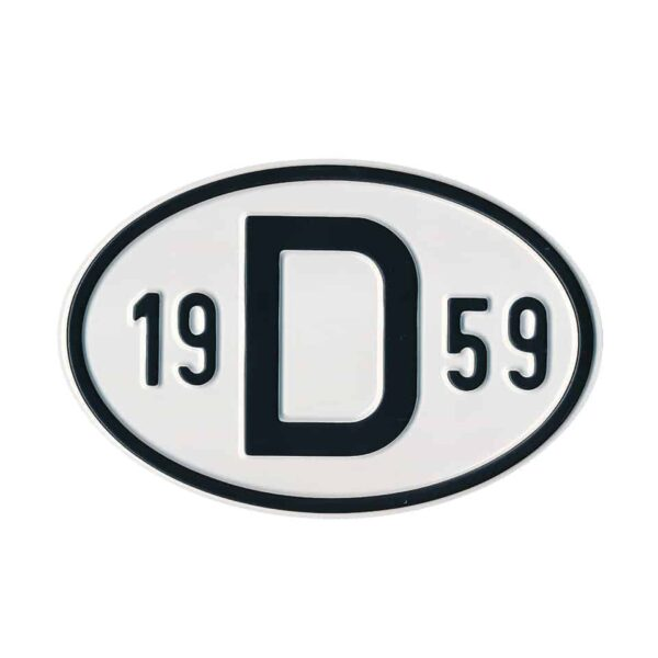 Sign D 1959 - Exterior - Plates and accessories - Country - year signs  - Generic