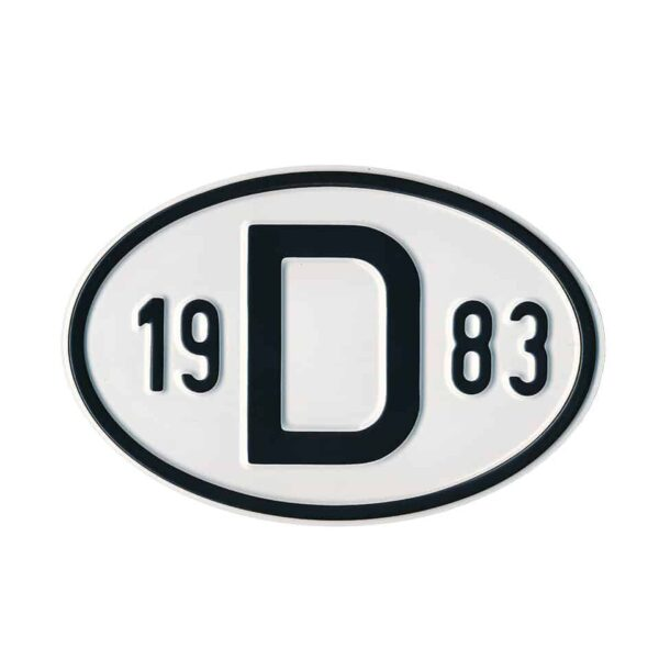 Sign D 1983 - Exterior - Plates and accessories - Country - year signs  - Generic
