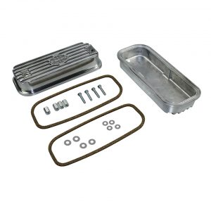 Valve cover, aluminium with screws, rubbers and mounting kit, as pair - Engine - Lower block - Cilinder heads, parts, Type 4  - Generic