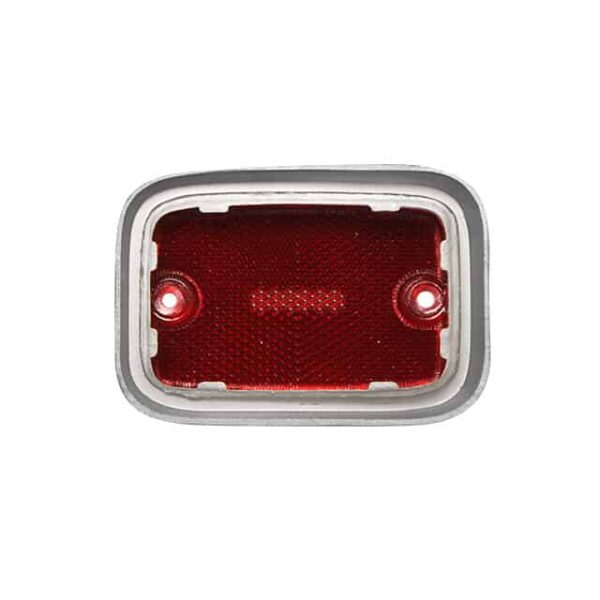 Side reflector lens rear - red/silver - Electrical section - Lights and indicators - Side marker  Bus  - Generic
