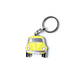 Key Rings with the design of the VW Beetle - yellow - Gadgets - Sew on badge, Key rings, gifts - Key-ring  - Generic
