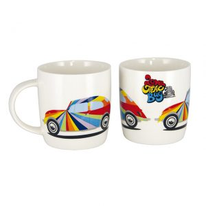 Coffee Mugs made out of New Bone China with multicoloured VW Beetle 400ml - Exterior - Accessories - Camping equipment  - Generic