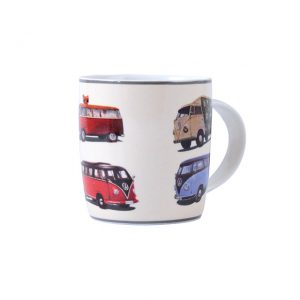 Coffee Mugs made out of New Bone China withT1 Bus parade 400ml - Exterior - Accessories - Camping equipment  - Generic