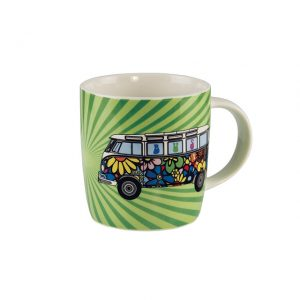 Coffee Mugs made out of New Bone China with Flower Power bus 400ml - Exterior - Accessories - Camping equipment  - Generic