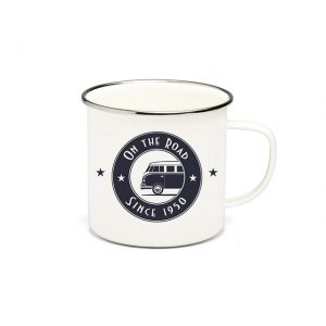 "Mug enamelled ""on the road"" 500ml - Exterior - Accessories - Camping equipment  - Generic"