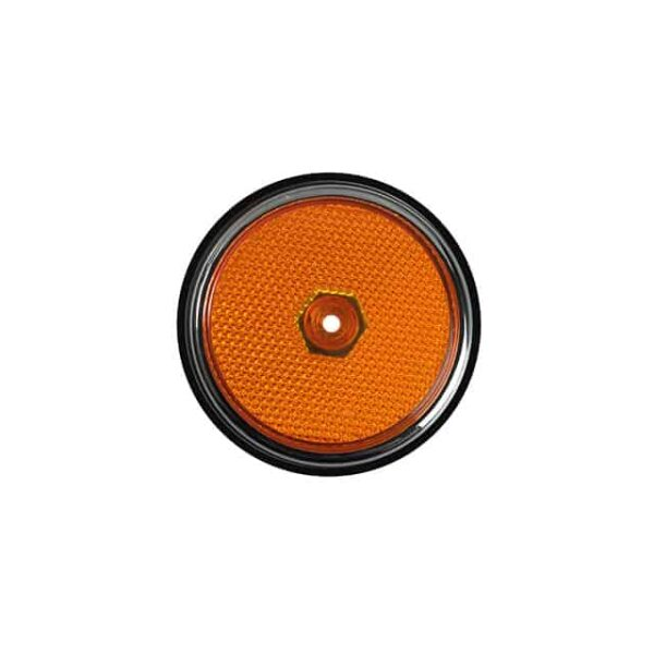 Side reflector lens and seal front - Orange/Chrome - Electrical section - Lights and indicators - Side marker  Bus  - Generic