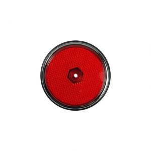 Side reflector lens and seal rear - red/Chrome - Electrical section - Lights and indicators - Side marker  Bus  - Generic