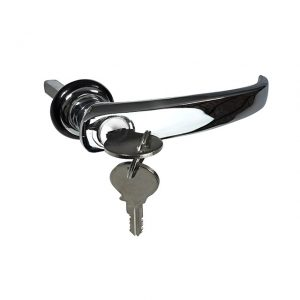 Cargo door handle - long - with key BBT - Exterior - Mirrors and latches - Latches and locks  - BBT Production