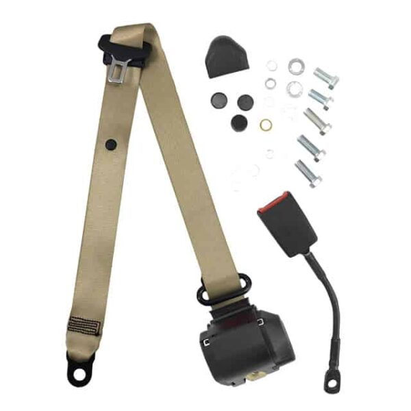 Universal seat belt - beige, eache-marked - Interior - Seats and accessories - Seat belts  - Generic