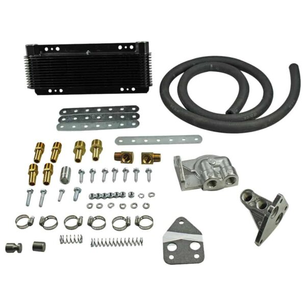 Oil cooler kit with 24 plates11 x 28 cm - Engine - Oil circuit - Supplementary oil cooler  - Generic