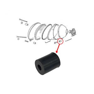 Rubber for headlight adjusting screw - Electrical section - Headlights and accessories - Headlight ring  - Generic