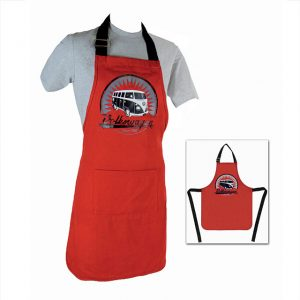 Cook apron red with T1 Bus - Exterior - Accessories - Camping equipment  - Generic