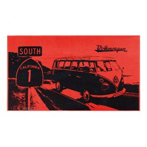 Beach towel T1 'South California' Bus red - Exterior - Accessories - Camping equipment  - Generic