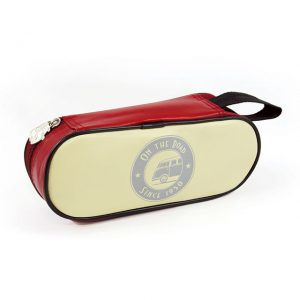 Pencil & makeup Case with Deluxe Bus - red - 23x9x7cm - Gadgets - Sew on badge, Key rings, gifts - Backpack, Bag, Case  - Generic