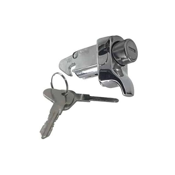 Engine lid lock with key / Chrome TQ - Exterior - Mirrors and latches - Latches and locks  - Generic