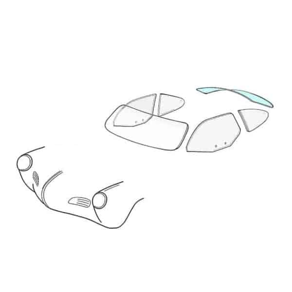Rear window - KG coupé 08/55-07/74 - Exterior - Windows and accessories - Windows - for aircooled VW (XView 1-09)  - Generic