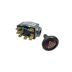 Emergency flasher switch - Electrical section - Switches and apparatuses - Dashboard switches  - Generic