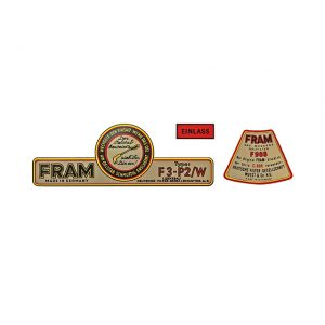 Decal kit for FRAM oil filter kit - Engine - Oil circuit - NOS Fram oil filter kit  - Generic
