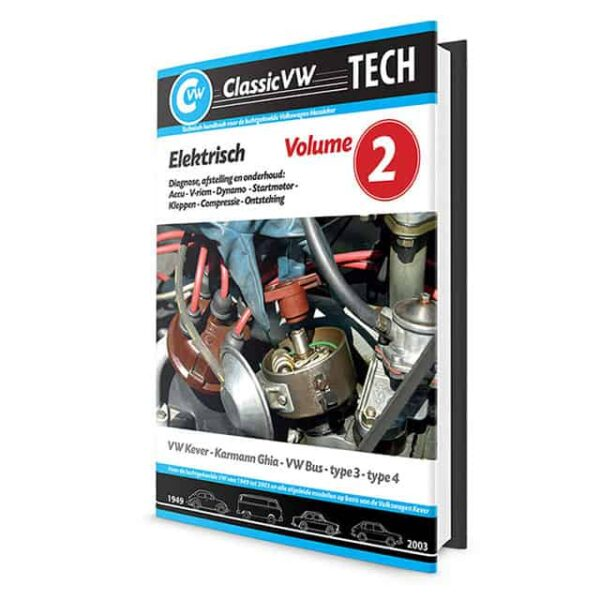 ClassicVW Tech 2Elektricity, battery, ignition for Bug, Ghia, Bus, Type 3, Type 4Dutch - Manuals - Books - Workshop manuals, Dutch  - Generic