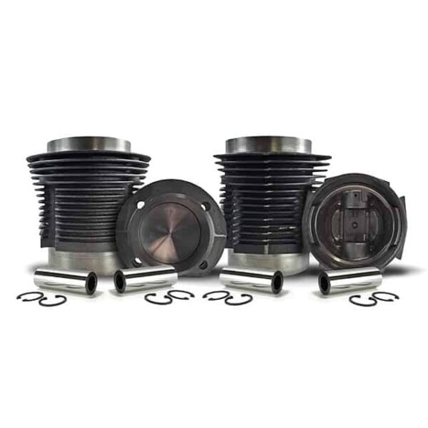 Piston and cylinder kit 30 DIN Hp (36 SAE) - 80x64mm 1286cc - (4pcs) - AA performance - Engine - Lower block - Cilinder/ piston kit Type 1, AA performance  - Generic
