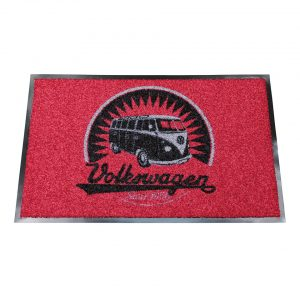 "Doormat ""Retro Volkswagen logo"" - Gadgets - Sew on badge, Key rings, gifts - Doormat  - Generic"