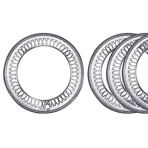 "Beauty rings 15"" 5-lug (set of 4 pcs) - Exterior - Wheel rims and accessories - Beauty-rings hub cap rings  - Generic"