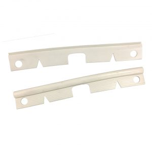 Bumper end seals, front, cloud white, as pair - Exterior - Bumpers and accessories - Bumperbolts and protection  - Generic