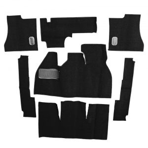 Carpet kit, Beetle, black - Interior - Upholstery and accessories - Carpet kit  - Generic
