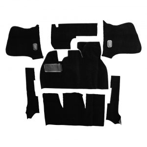 Carpet kit, Beetle convertible, black - Interior - Upholstery and accessories - Carpet kit  - Generic
