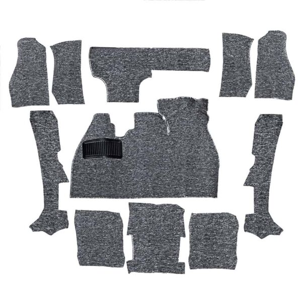 Carpet kit, Beetle convertible, grey - Interior - Upholstery and accessories - Carpet kit  - Generic