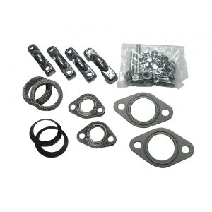 Exhaust assembly kit 25-30HP / double exhausttip - Engine - Exhaust and accessories - Gasket and accessories for exhaust  - Generic