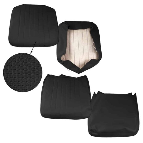 Front seat covers black - basket weave - vertical seams - Interior - Seats and accessories - Seat covers  - Generic