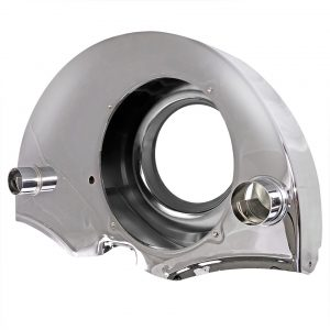 Chrome fan shroud with ducts - Engine - Engine cooling tin - Fan shrouds  - Generic