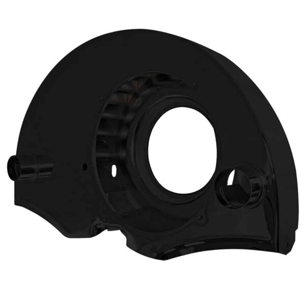 Black fan shroud with ducts - Engine - Engine cooling tin - Fan shrouds  - Generic