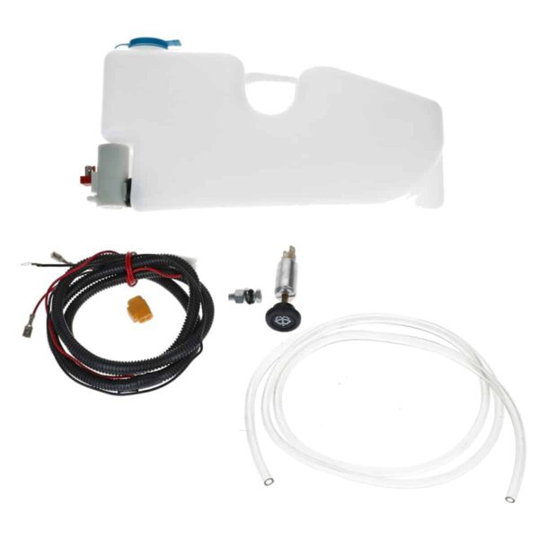 Washer bottle complete, 12V - Exterior - Windscreen wipers - Windshield wipers hardware  - Generic