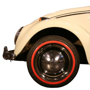 Red wall ring (small) 16 inch, 4 pieces - Exterior - Wheel rims and accessories - Tyre walls  - Generic